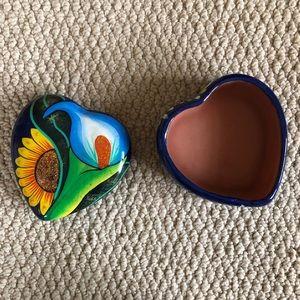 Ceramic Heart Jewelry Holder
